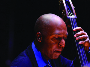 Bassist Del Atkins of the Yuko Mabuchi Trio