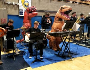 The Jazz Band gets into the Halloween theme of last October's concert